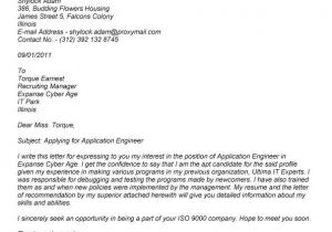 Applying for A Job Online Cover Letter Writing A Cover Letter for A Job Application Examples
