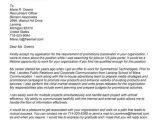 Applying for A Promotion Cover Letter Job Promotion Cover Letter Sample Letters