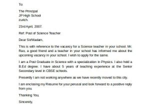Applying for A Teaching Job Cover Letter 10 Teacher Cover Letter Examples Download for Free