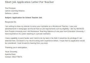 Applying for A Teaching Job Cover Letter 16 Job Application Letter for Teacher Templates Pdf