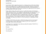 Applying for A Teaching Job Cover Letter 6 Sample Of Application Letter for Teacher Edu Techation