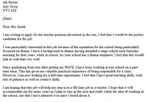 Applying for A Teaching Job Cover Letter Letter Of Application formal Letter Of Application for A