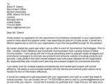 Applying for Promotion Cover Letter Job Promotion Cover Letter Sample Letters