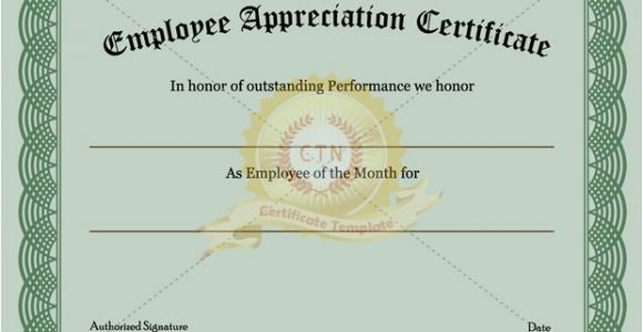 Appreciation Certificate Template for Employee 6 Appreciation Certificate Templates Certificate Templates