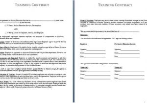 Apprenticeship Contract Of Employment Template Free Contract Templates Word Pdf Agreements
