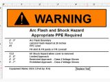 Arc Flash Policy Template Displaying Different Text Based Off A Condition