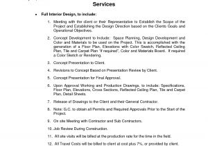 Architect Contract Template High Resolution Interior Design Contract Template