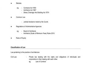 Architect Contract Template the Architect as Contract Administrator A Legal