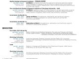 Architecture Student Resume Examples Gallery Of the top Architecture Resume Cv Designs 9