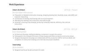 Architecture Student Resume for Internship Architectural Intern Resume Samples Templates Visualcv