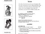 Art Student Resume Art School Admissions Resume