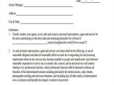 Artist Management Contract Template Free Download 10 Artist Contract Templates Pages Docs Pdf