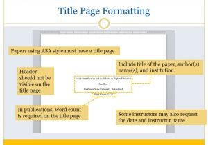 Asa format Template asa format and Citation Ppt Video Online Download