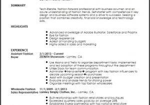 Assistant Fashion Designer Resume Sample Fashion Buyer Resume Best Resume Collection