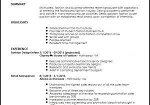 Assistant Fashion Designer Resume Sample Free Entry Level Fashion assistant Buyer Resume Template