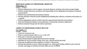 Assistant Professor Sample Resume Professor assistant Resume Samples Velvet Jobs
