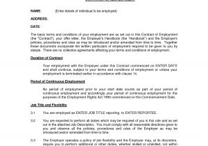 Associate Dentist Contract Template Uk Free Printable Employment Contract Sample form Generic