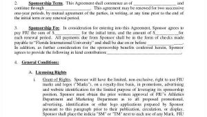 Athlete Sponsorship Contract Template 11 Sponsorship Agreements Free Sample Example format