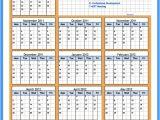 Attendance Calendar Template Printable Employee attendance Calendar Template 2016