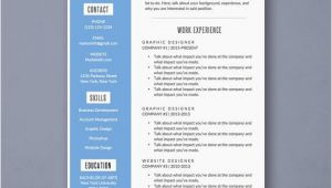 Attractive Resume format Word attractive Word Resume Template with Blue Sidebar Design