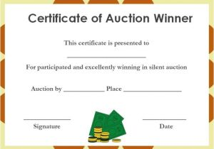 Auction Certificate Templates Free Silent Auction Certificates 18 Official and Beautiful