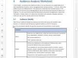 Audience Profile Template Audience Analysis Template 30 Pg Ms Word Excel Spreadsheet
