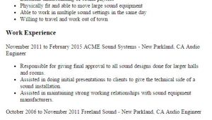 Audio Engineer Resume Professional Audio Engineer Templates to Showcase Your