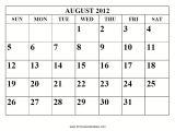 August 2012 Calendar Template July 2012 Calendar Printable Calendar Template 2018