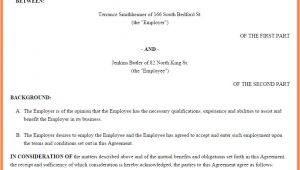 Australian Employment Contract Template 6 Employment Agreement Template Australia Purchase