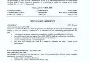 Australian format Resume Samples Administration Resume Examples Australia Resume Papers