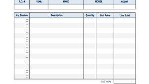 Auto Body Receipt Template Repair Receipt Templates 7 Free Word Pdf Excel format