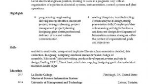 Automation Engineer Resume Automation Engineer Resume Sample Engineering Resumes