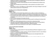 Automation Engineer Resume Lead Automation Engineer Resume Samples Velvet Jobs