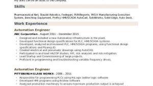 Automation Engineer Resume Pdf Automation Engineer Resume Samples Qwikresume