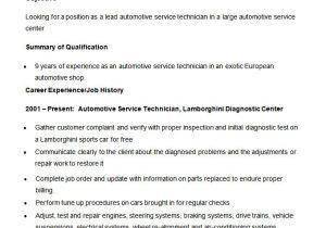 Automobile Service Engineer Resume 23 Automobile Resume Templates Free Word Pdf Doc formats