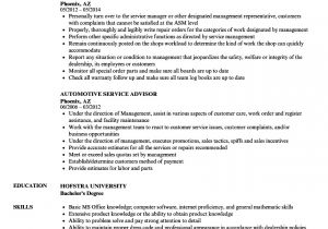 Automobile Service Engineer Resume Automotive Service Advisor Resume Samples Velvet Jobs