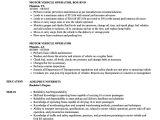 Automobile Service Engineer Resume Motor Vehicle Operator Resume Samples Velvet Jobs