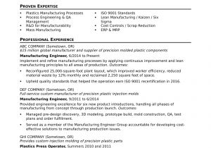 Automobile Service Engineer Resume Sample Resume for A Midlevel Manufacturing Engineer