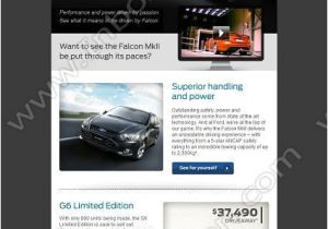 Automotive Email Templates Email Design Falcons and ford On Pinterest