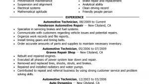 Automotive Resume Templates 11 Amazing Automotive Resume Examples Livecareer