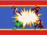Avengers Happy Birthday Card Template Avengers Free Printable Kit Dengan Gambar