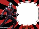 Avengers Happy Birthday Card Template Free Printable Ant Man Birthday Invitation Templates Con