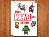 Avengers Happy Birthday Card Template Marvel Birthday Card Avengers Birthday Card Have A