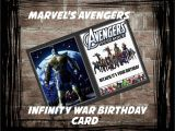 Avengers Happy Birthday Card Template Marvel S Avengers Infinity War Birthday Card Pdf Digital