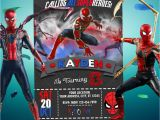 Avengers Happy Birthday Card Template Spiderman Avengers Invitation for Birthday Party Spider Man