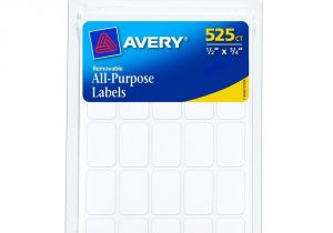 Avery 1 2 X 1 3 4 Template 525 Removable Self Adhesive Labels 1 2 Quot X3 4 Quot Small White