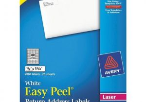 Avery 1 2 X 1 3 4 Template Avery 1 2 X 1 3 4 Laser Easy Peel Address Labels White