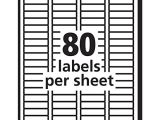Avery 1 2 X 1 3 4 Template Avery Mailing Address Labels Inkjet Printers 2 000