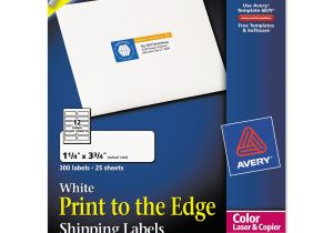Avery 1 2 X 1 3 4 Template Avery Print to the Edge Shipping Labels for Color Laser