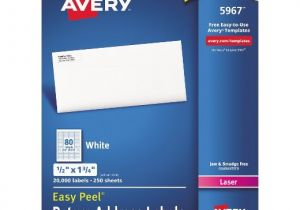 Avery 1 2 X 1 3 4 Template Avery Return Address Labels 1 2 X 1 3 4 White 20000